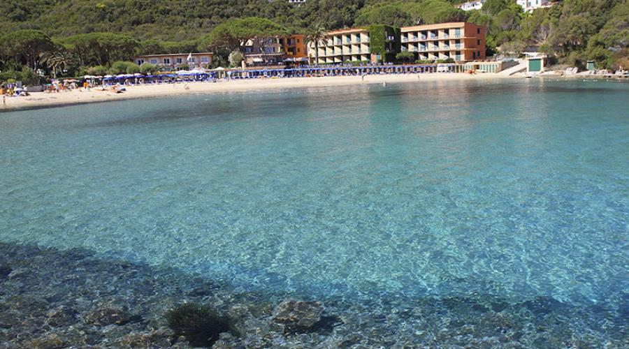 Panoramica spiaggia dell'hotel