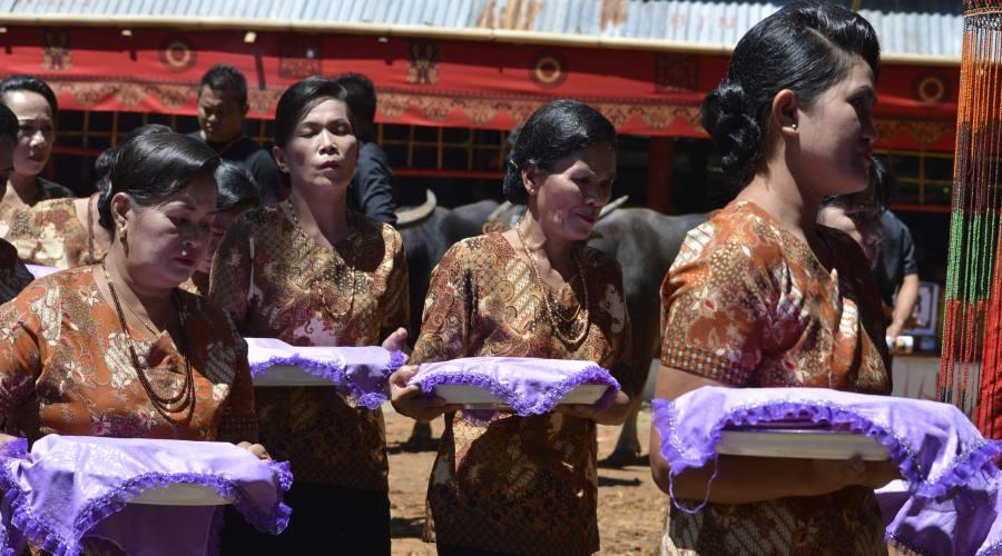 Preparazione della cerimonia funebre