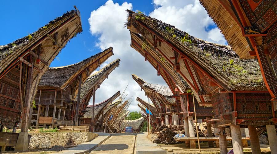 Abitazioni tipiche della terra di Toraja
