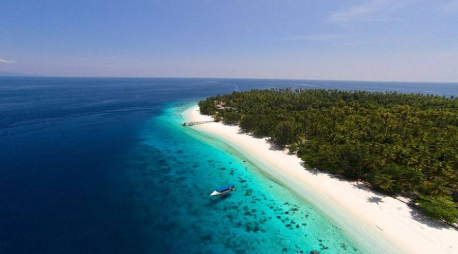 La vista della spiaggia di Agusta Eco Resort