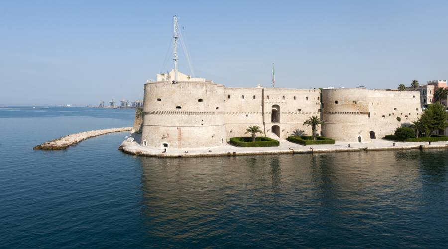 Old castle on the sea