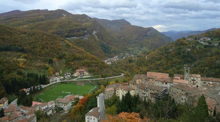 Panorama da Ascoli Piceno a Norcia
