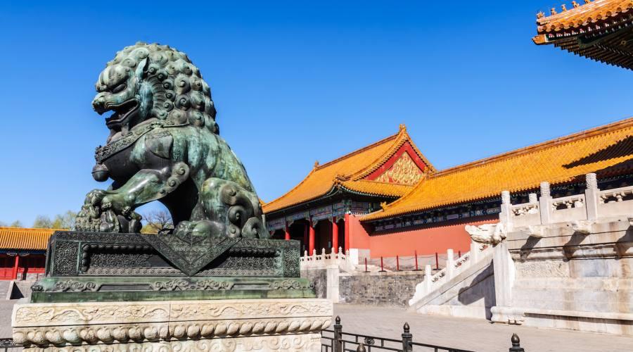 Pechino Città Proibita Leone