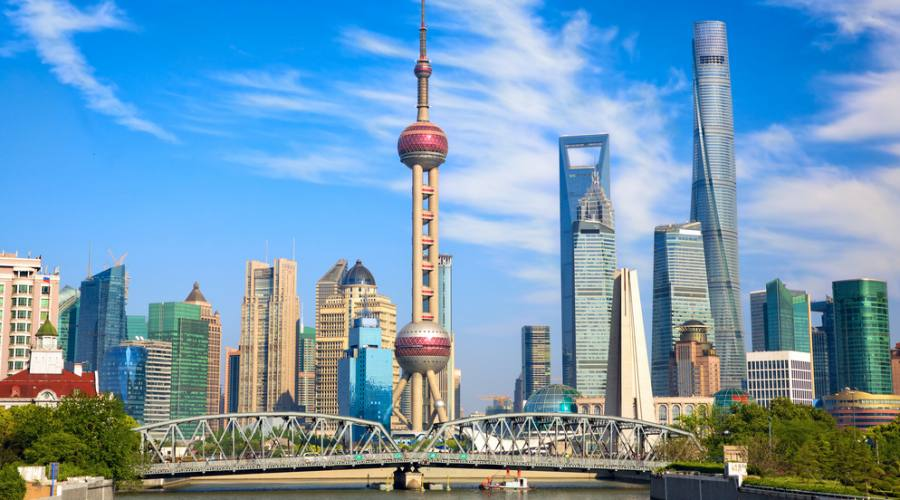 Shanghai Pudong dal Bund