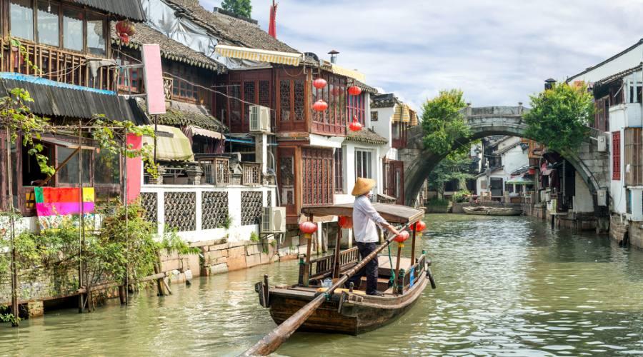 Shanghai Villaggio sull'acqua Zhujiaijiao