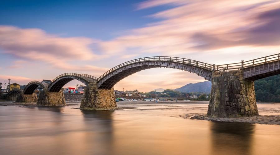 Il ponte Kintaiko ad Iwakuni, Hiroshima