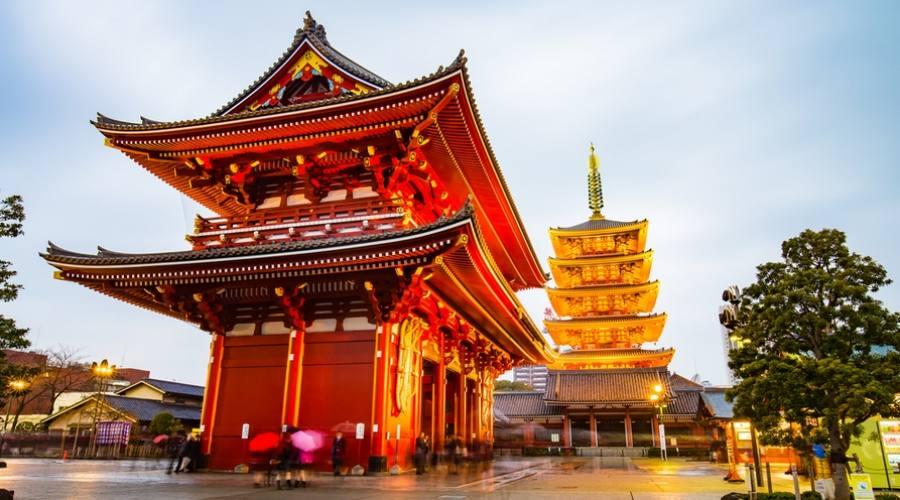 Il Tempio Senso-ji a Tokyo