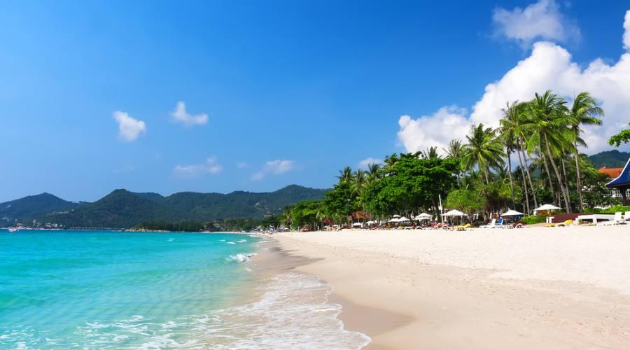 La spiaggia di Chaweng a Koh Samui