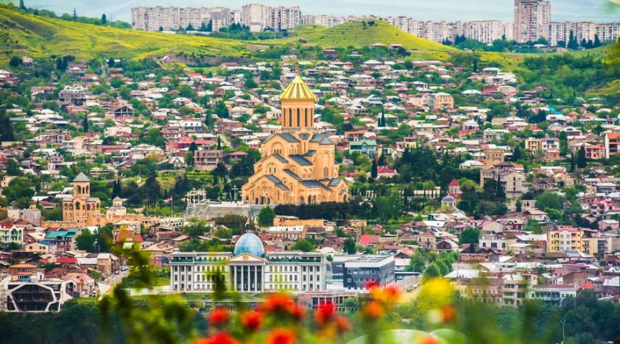 veduta panoramica Tbilisi