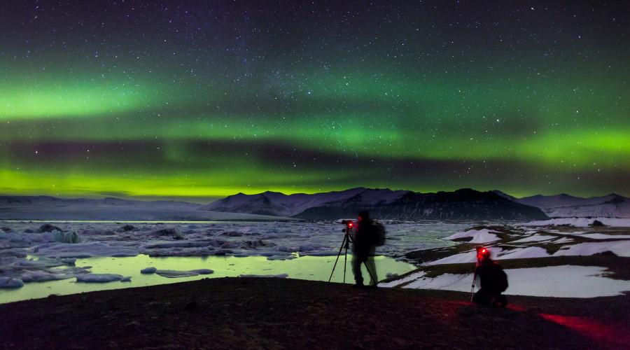 Aurora Boreale sulla Laguna di Jokulsarlon