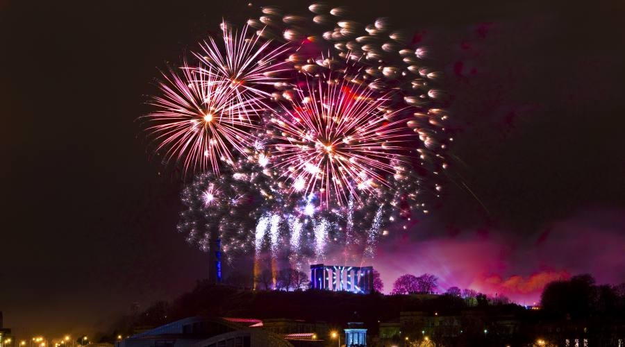 Edimburgo fuochi d'artificio