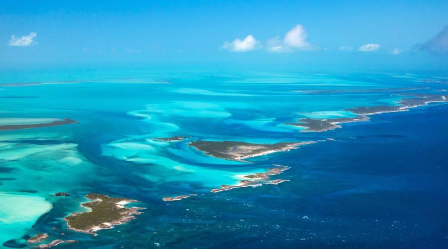Veduta aerea delle isole Bahamas