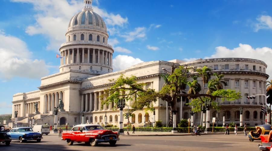 Capitolio e auto d'epoca, Avana