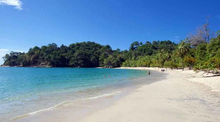 Una delle splendide spiagge del Parco nazionale Manuel Antonio