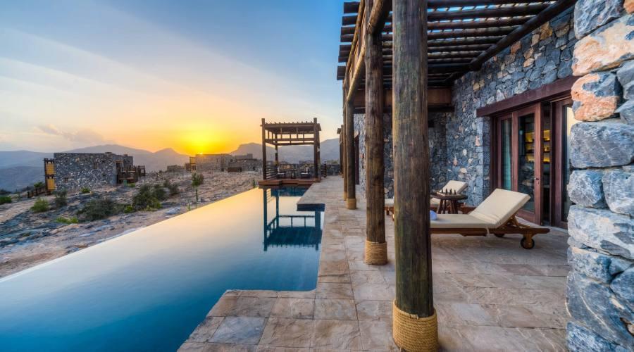 Piscina e vista Jabal Akhdar