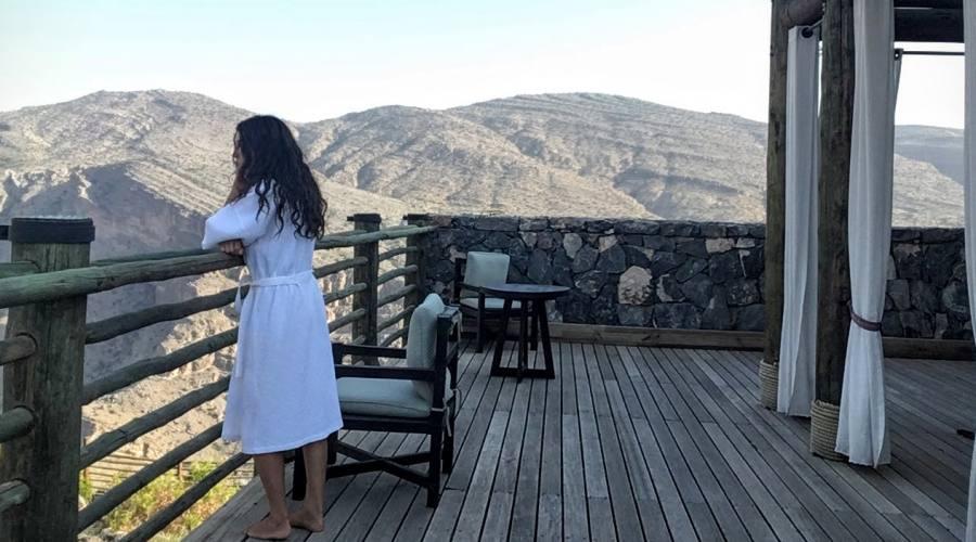 Vista da una camera su Jabal Akhdar