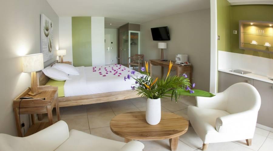 Una delle camere dell'Hotel La Pagerie