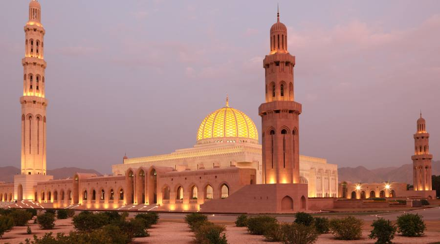 Sultan Qabus, La Granda Moschea  di Muscat