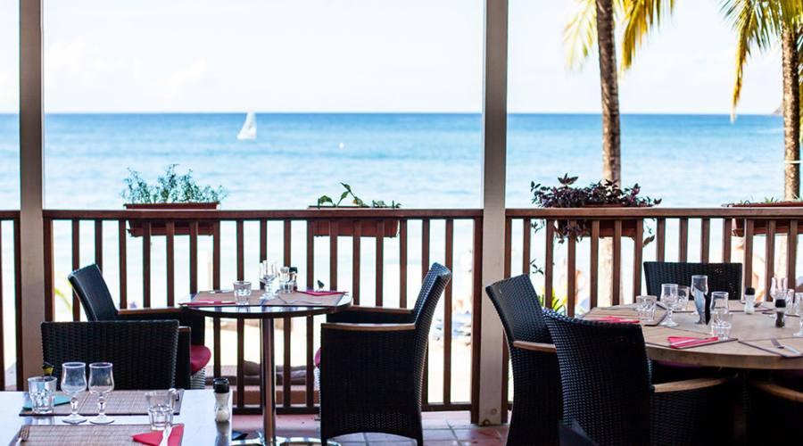 La terrazza vista mare del ristorante