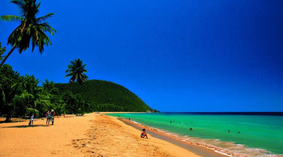 La dorata spiaggia di Grande Anse
