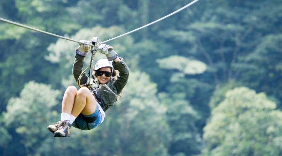 Zip line nella Riserva di Monteverde