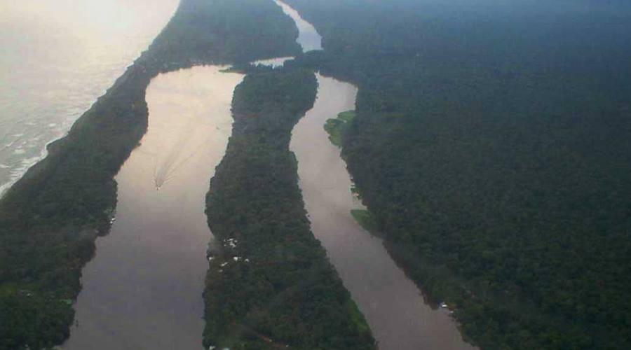 Parco nazionale Tortuguero dall'alto