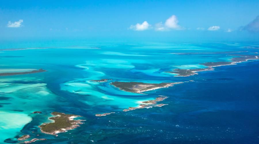 Vista aerea delle Isole Bahamas