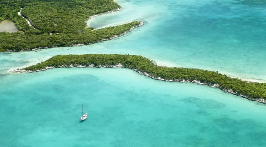 Le isole Bahamas dall'alto