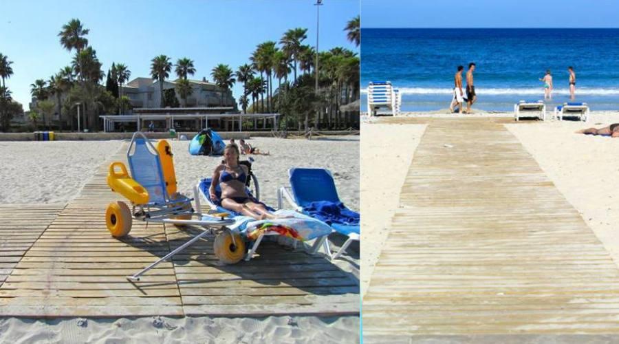 Passerelle e Job in spiaggia