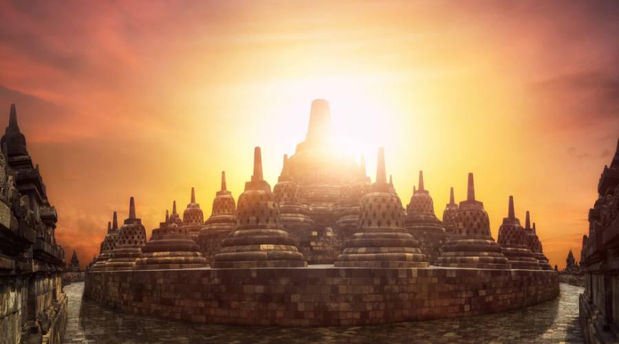 Alba al Borobudur
