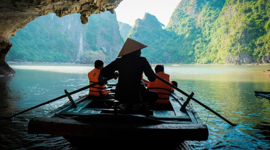 Guilin Imbarcazione sul fiume