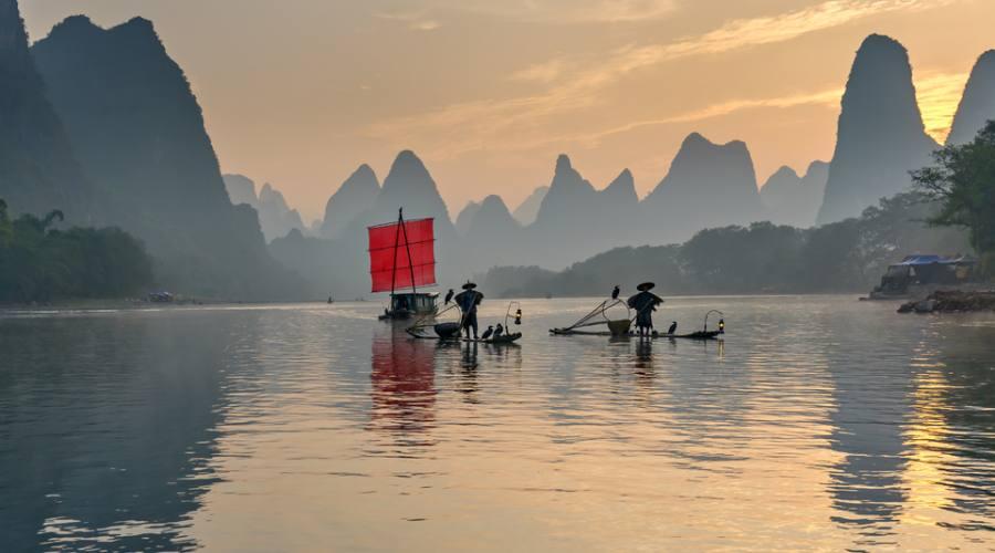 Guilin Pescatori sul Fiume Li