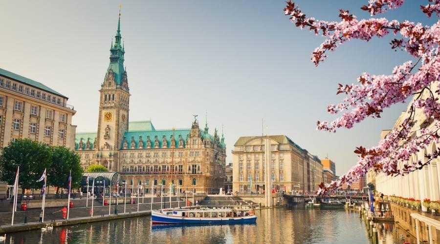 Amburgo , torre del municipio