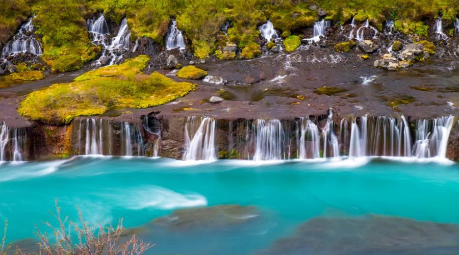 La cascata di Hraunfossar