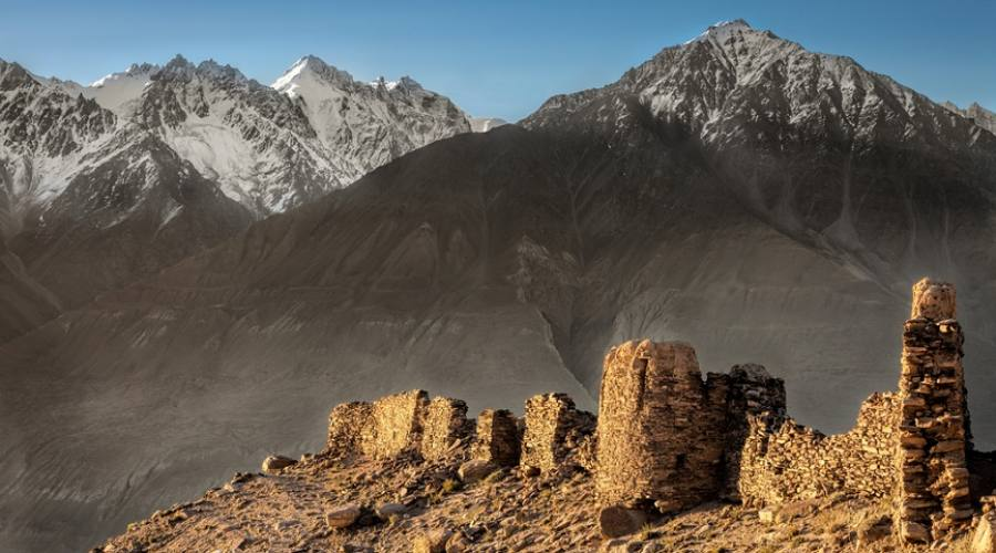 antiche rovine in Kyrgyzystan