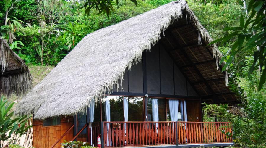 Veduta esterna di un bungalow