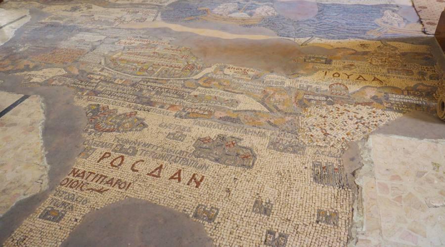 Madaba, il mosaico della chiesa di S.Giorgio