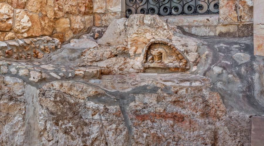Gerusalemme, roccia dell'agonia (Monte degli Ulivi)