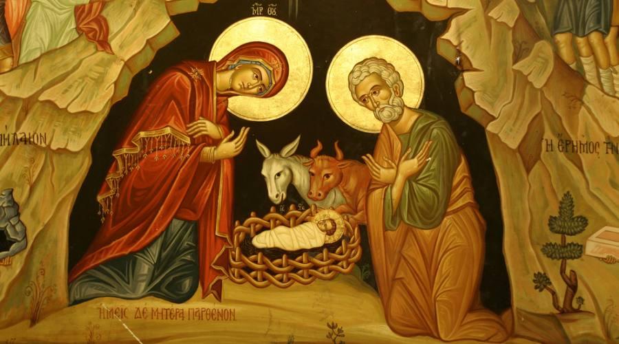 Betlemme, Ritratto di Maria, Giuseppe e Gesù nella chiesa della Natività