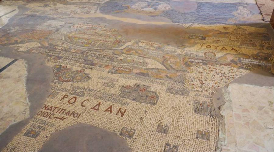 Madaba, il mosaico della chiesa di...