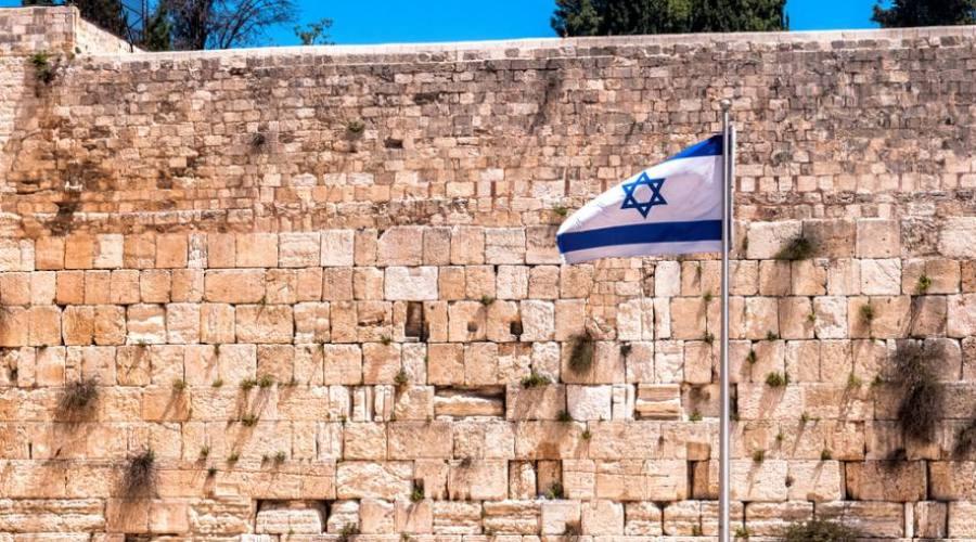 Gerusalemme, muro del pianto con la...