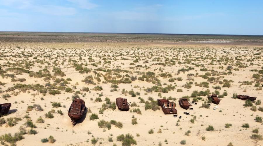Deserto nel lago d'Aral