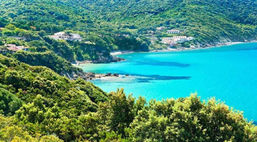 La costa dell'Elba