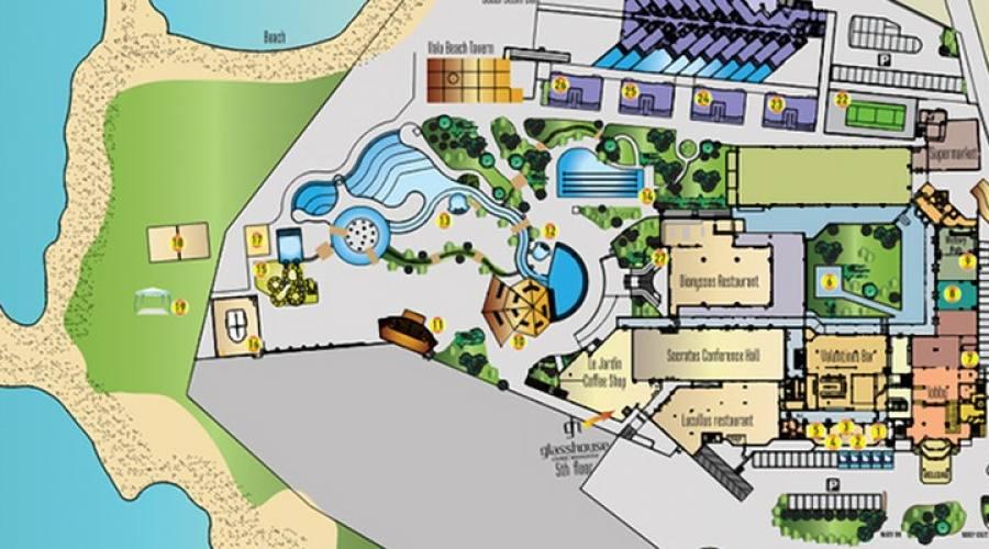 mappa hotel