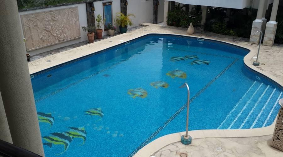 La piscina a disposizione degli ospiti