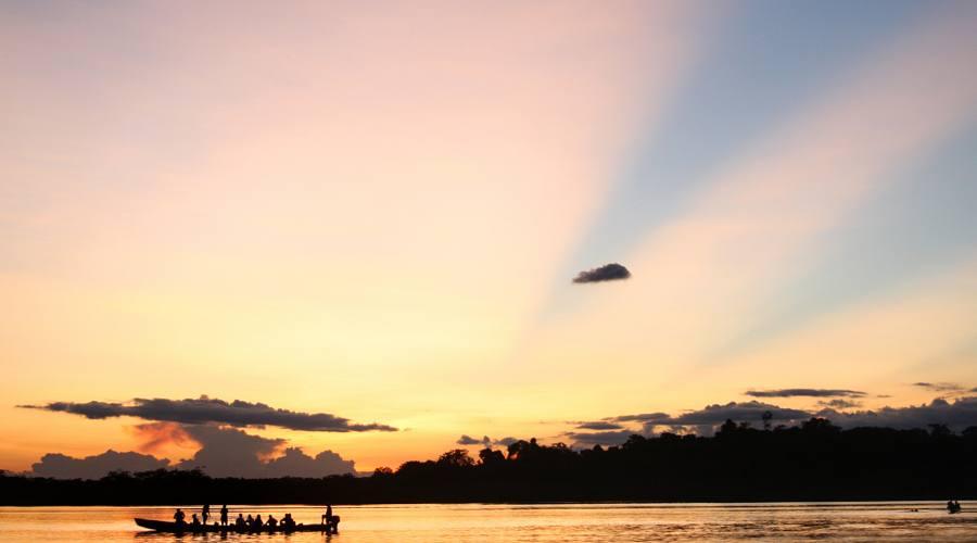 Tramonto in Amazzonia