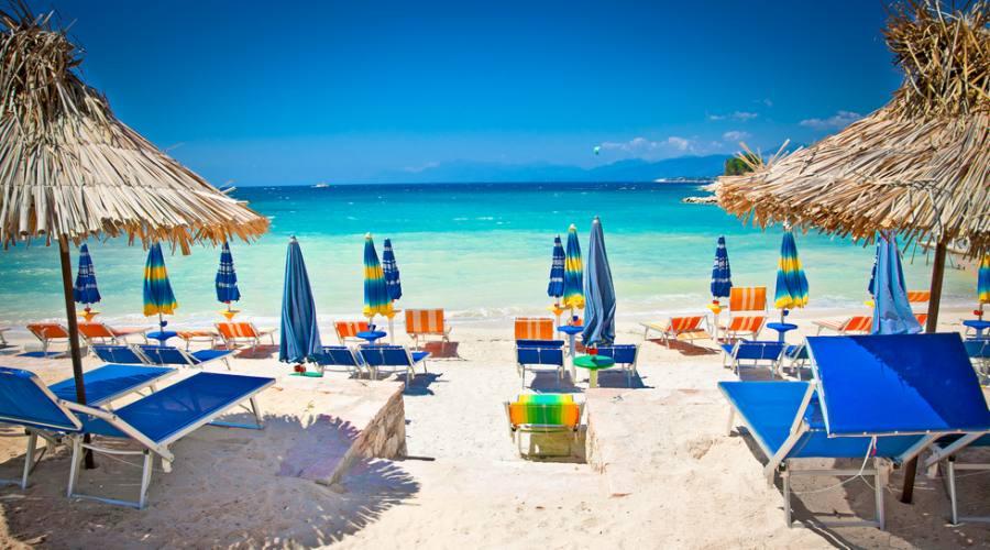 una delle spiagge di ksamil