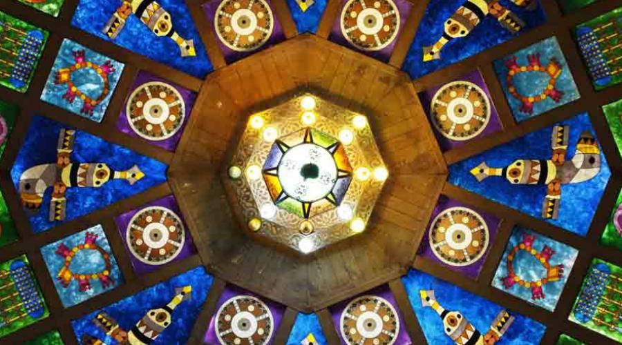 Particolare della Grande Moschea del Sultano Qabus