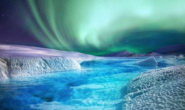 Colori dell'autunno e aurora boreale
