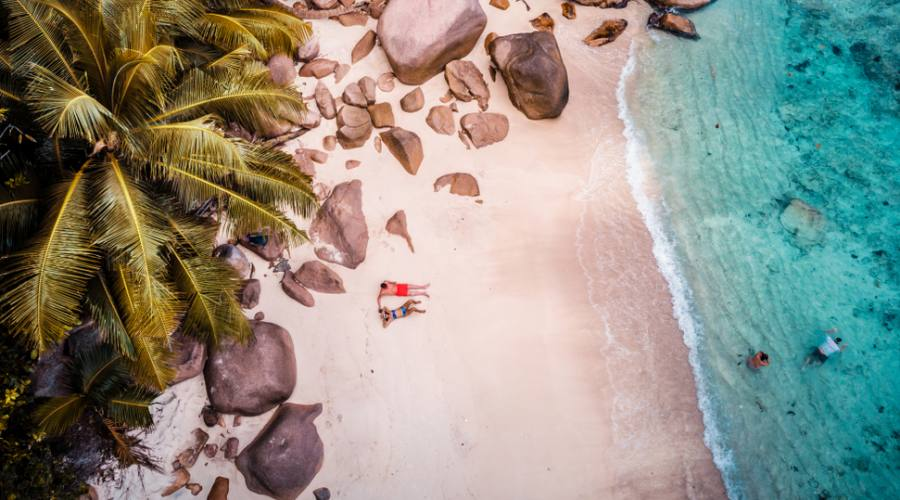 Seychelles relax in spiaggia